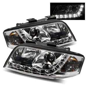 02 04 Audi A6 Chrome LED Halo Projector Headlights /w DRL Automotive
