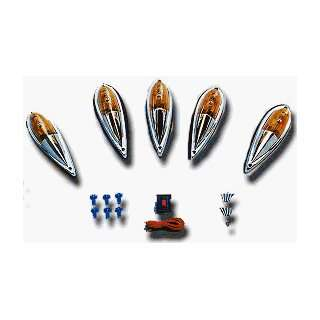 Deluxe Cab Roof Running Lights Kit (5 Lights   Amber) Automotive