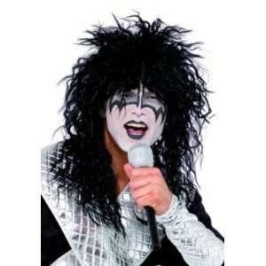 Kiss Fancy Dress Wig, Makeup & Microphone Kit Toys & Games