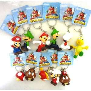 Super Mario Brothers 11 PCS Figure Keychain Set Toys & Games