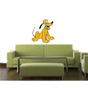 PLUTO MICKEY MOUSE CARTOON WALL COLOR STICKER MURAL DISNEY