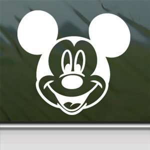 Disney White Sticker Mickey Mouse Car Vinyl Window Laptop