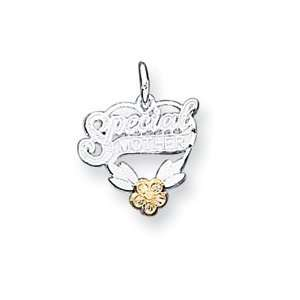 Sterling Silver Special Mother Heart Charm QC1232 Jewelry