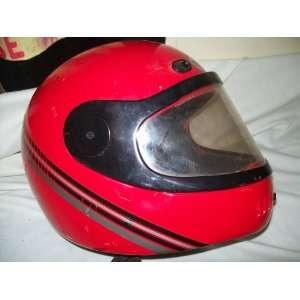 Ranger Red Motorbike or motorcycle helmet with visor