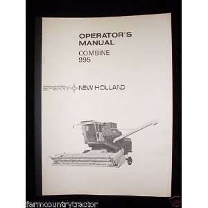 New Holland 995 Combine OEM OEM Owners Manual: New Holland: Books