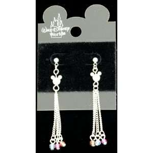 DISNEY MICKEY MOUSE HEAD PIERCED DANGLE EARRINGS Everything Else