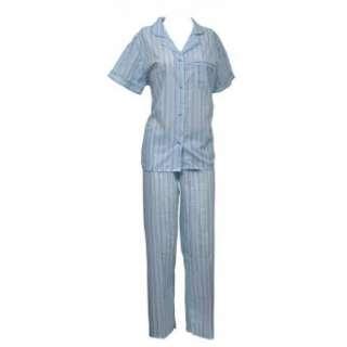 Womens/Ladies Short Sleeve Striped Pajamas Set Clothing