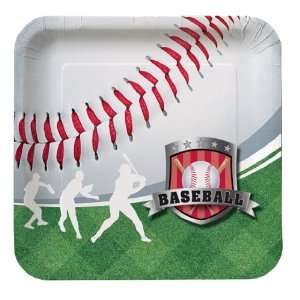 Baseball Themed Paper Luncheon Plates: Toys & Games