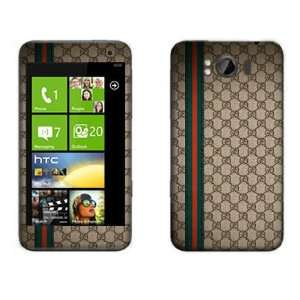 Meestick Gucci Brown Vinyl Adhesive Decal Skin for HTC