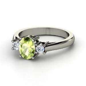 Ashley Ring, Oval Peridot Sterling Silver Ring with
