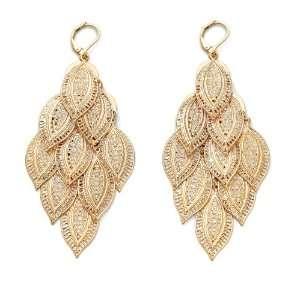 Jewelry 14k Gold Plated Filigree Drop Pierced Earrings Jewelry