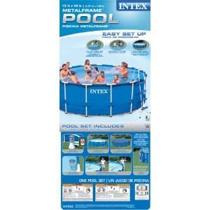 Intex 56945EG Metal Frame Pool Set Patio, Lawn & Garden