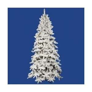 12 Pre Lit Flocked Olympia Fir Artificial Christmas Tree
