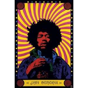 Jimi Hendrix   Psychedelic by Unknown 39x55