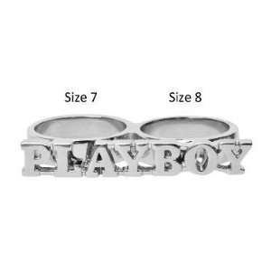 2 Finger Ring Play boy   Size 7, 8 Jewelry