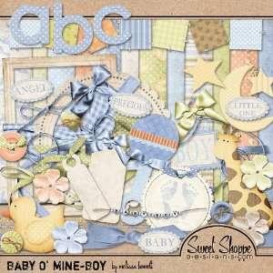 Digital Scrapbooking Kit Baby O Mine Boy by Melissa