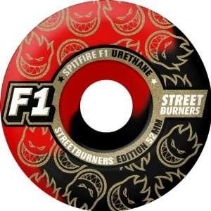Spitfire F1sb Swirl 54mm Black Red Skate Wheels
