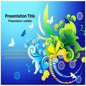 Powerpoint Backgrounds  Floral Powerpoint Template Slides Software