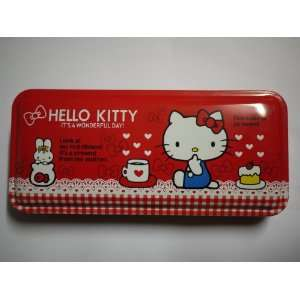Charming Red Hello Kitty Pencil Box