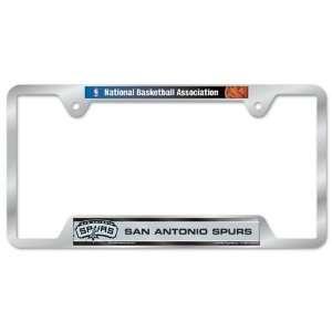 San Antonio Spurs Metal License Plate Frame Sports