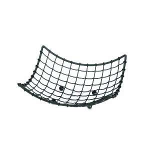 Square Concave Black Wire Baskets   Bread Basket   Black Powder Coat