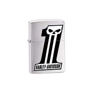 Zippo Brushed Chrome Lighter, Harley Davidson Summer Dealer Edition