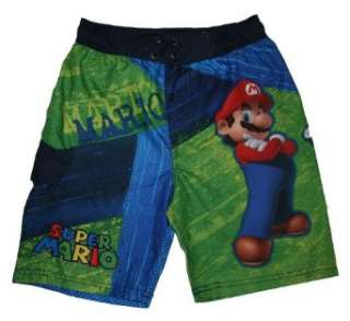 Super Mario & Luigi Swim Trunks for Boys Clothing