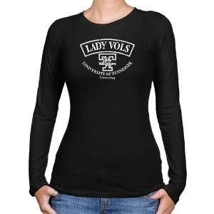 Tennessee Lady Vols Ladies Black Heritage Long Sleeve Slim