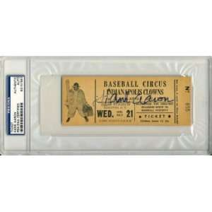1950s NEGRO LEAGUE TICKET PSA/DNA   Signed MLB Baseball Tickets