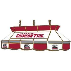 Alabama Crimson Tide Stained Glass Pool Table Light