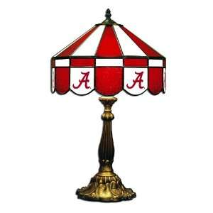 Alabama Crimson Tide 16 Stained Glass Table Lamp