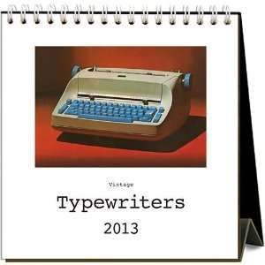 Vintage Typewriters 2013 Easel Desk Calendar Office