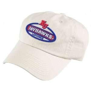 Kansas Jayhawks Khaki Vintage Oval Hat