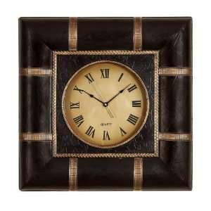 Wood and Leather Wall Clock arts 24x24 idea for home and office 112