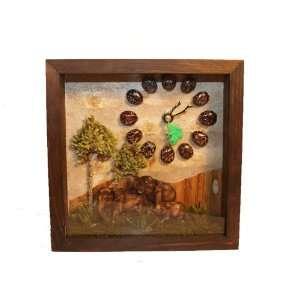 Wood frame Handmade Wall/Table Clock