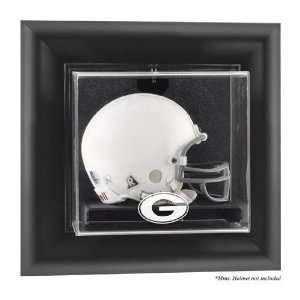 Georgia Bulldogs Framed Wall Mounted Logo Mini Helmet