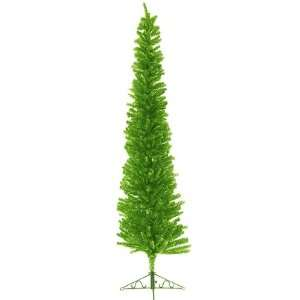 Wild Lime Green Pencil Tinsel Artificial Christmas Tree Home