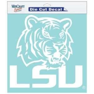Lsu Tigers 8x8 Clear Die Cut Decal