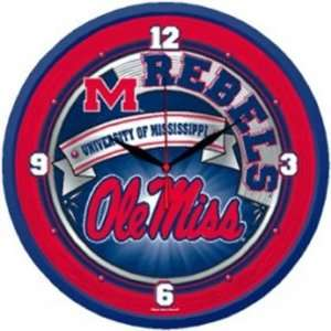 Ole Miss Rebels WinCraft Round NCAA Wall Clock