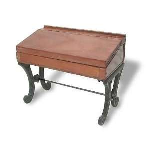 Wood & Cast Iron School Desk Desk Accessory 8  DLA 021418 W