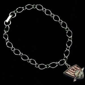 NBA New Jersey Nets Ladies Silver Tone Charm Bracelet