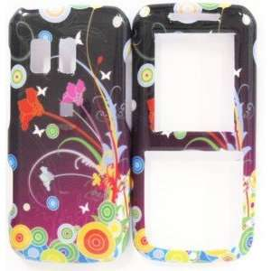 Flower Design Skin Cover Case Protector Hard Straight Talk NET 10 Hard