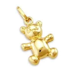14k Yellow Gold Teddy Bear Charm Pendant CUTE Jewelry