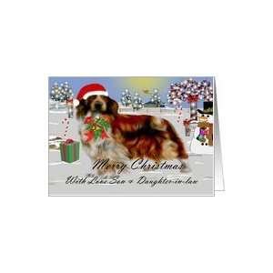 Merry Christmas ~ Son & Daughter in law ~ Welsh Springer