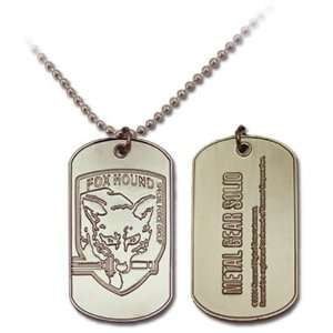 Metal Gear Solid 3 Snake Eater Fox Hound Dog Tag Necklace