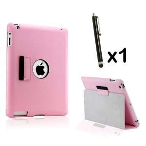 Slim fit Duel Layer Pink leather case with smart Cover function stylus