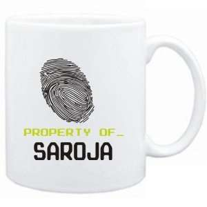 Mug White  Property of _ Saroja   Fingerprint  Female Names