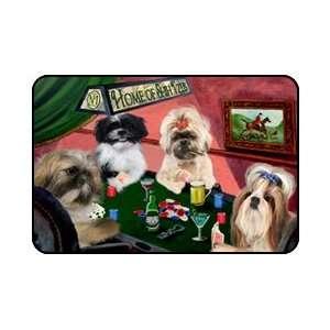 4 Dogs Playing Poker Shih Tzu Mousepad: Home & Kitchen
