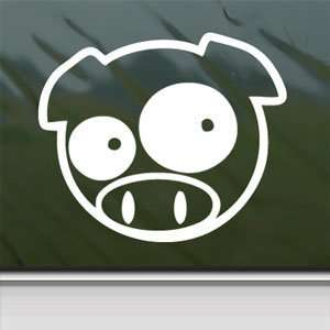 PIG NINJA ANIMAL PET White Sticker Car Vinyl Window Laptop