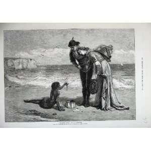 Fine Art Treasure Sea Shore Coloured Boy Woman Man